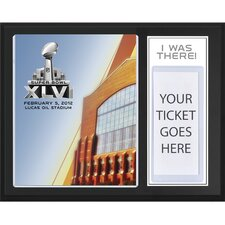 NFL New York Giants with New England Patriots Super Bowl XLVI Sublimated 'I WAS THERE' Memorabilia Plaque