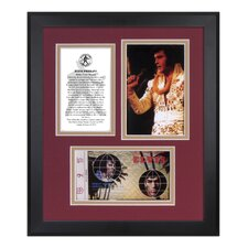 Elvis Presley 'Aloha From Hawaii' 35th Anniversary Framed Memorabilia