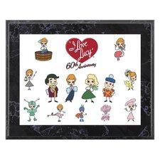 I Love Lucy '60th Anniversary' Memorabilia Plaque