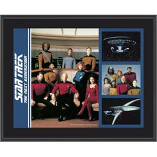 Star Trek: The Next Generation Sublimated Memorabilia Plaque