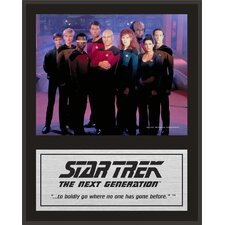 "Star Trek: The Next Generation Sublimated Plaque (Version 1) - 15"" x 12"""
