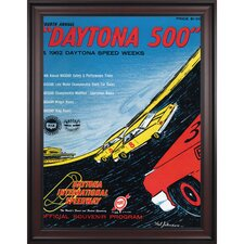 NASCAR Daytona 500 Program Framed Vintage Advertisement