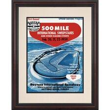 NASCAR Daytona 500 Program Framed Vintage Advertisement