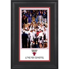 Chicago Bulls 6-Time NBA National Champions Framed Legacy Print