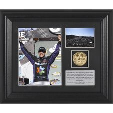 NASCAR Denny Hamlin 2012 Subway Fresh Fit 500 Winner Framed 6x8 Photo with Plate and Gold Coin