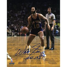 "Walt Frazier New York Knicks Autographed Photograph with ""HOF 1987"" Inscription"