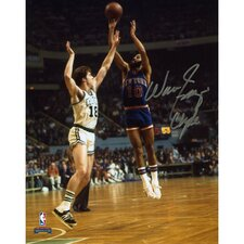 "Walt Frazier New York Knicks Autographed vs Boston Celtics Photograph with ""Clyde"" Inscription"