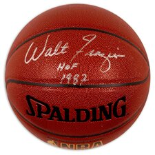 "Walt Frazier Autographed Basketball with ""HOF 1987"" Inscription"