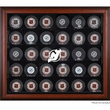 30 Hockey Puck Logo Display Case