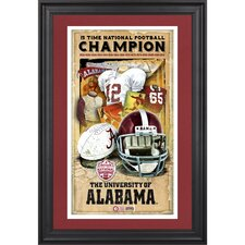 Alabama Crimson Tide 15-Time National Champions Framed Legacy Print