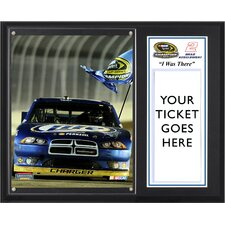 "NASCAR Brad Keselowski 2012 Sprint Cup Series Champion ""I Was There"" Plaque"