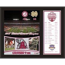 Alabama Crimson Tide 2012 BCS National Champions Sublimated Plaque