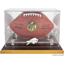<strong>Mounted Memories</strong> NFL Wood Base Football Logo Display Case