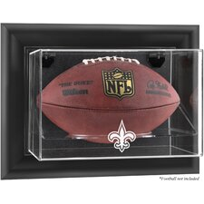 NFL Wall Mounted Football Logo Display Case