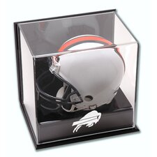 NFL Wall Mounted Logo Mini Helmet Display Case
