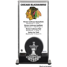 <strong>Mounted Memories</strong> NHL 2013 Stanley Cup Champions Logo Standard Puck Display Case