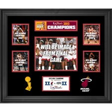 Miami Heat 2013 NBA Champions Framed 5-Photograph Collage