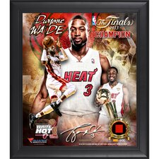 Miami Heat NBA 2013 Champions Framed Multi-Photo Collage with Game-Used Jersey Piece