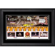 Miami Heat American Airlines Arena Miami Heat 2013 NBA Champions Framed Panoramic with Game-Used Basketball Piece