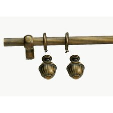 <strong>Versailles Home Fashions</strong> Madison Ribbed Curtain Rod and Hardware Set