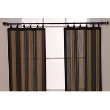Bamboo Ring Top Tier Curtain
