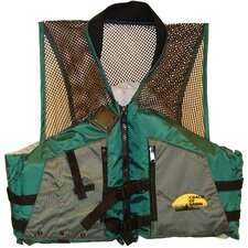 Fishing Life Large Adult Vest in Green / Grey