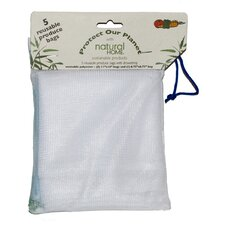 5 Piece Reusable Produce Bag Set