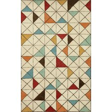 Fantasy Triangles Mod Area Rug
