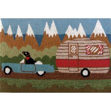 <strong>Liora Manne</strong> Frontporch Green Camping Dog Rug
