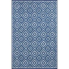 <strong>Liora Manne</strong> Carlton Denim Diamond Rug