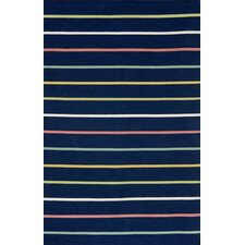 Sorrento Candy Stripe Navy Rug