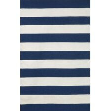 Sorrento Indoor/Outdoor Rugby Stripe Navy Indoor/Outdoor Rug