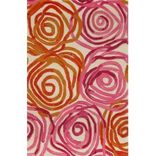 Tivoli Rambling Rose Sunset Orange/Pink Area Rug