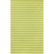 Sorrento Pinstripe Lime Indoor/Outdoor Rug