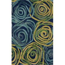 Tivoli Rambling Rose Navy Rug