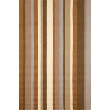 Newport Desert Sand Vertical Stripe Indoor/Outdoor Area Rug