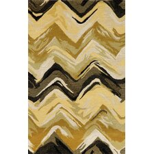 Tivoli Chevron Yellow/Grey Rug