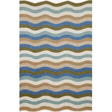 Carlton Aqua Waves Indoor/Outdoor Rug