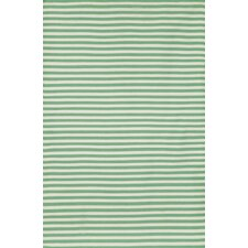 Sorrento Mini Stripe Aqua Indoor/Outdoor Rug