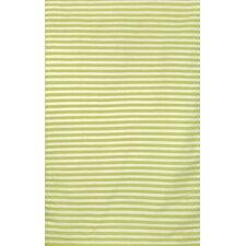 Sorrento Mini Stripe Lime Indoor/Outdoor Area Rug