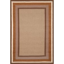 Newport Desert Sand Multi Border Indoor/Outdoor Rug