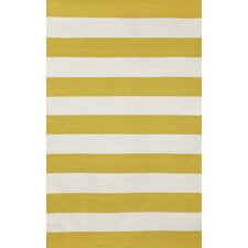 Sorrento Indoor/Outdoor Rugby Stripe Yellow Indoor/Outdoor Rug