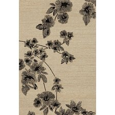 Carlton Black Branches Indoor/Outdoor Rug