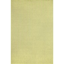 Monterey Green Texture Stripe Indoor/Outdoor Rug