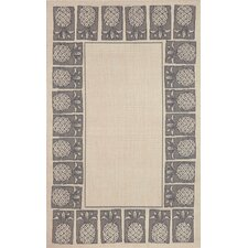 Terrace Ivory Pineapple Stamp Indoor/Outdoor Area Rug