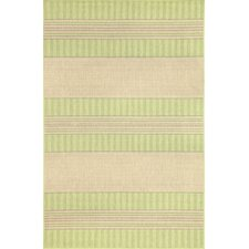 Madison Green Stripe Indoor/Outdoor Rug