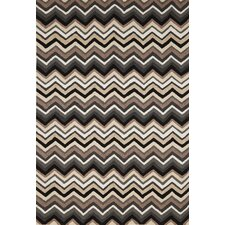 Ravella Black / White Zigzag Outdoor Rug