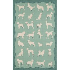 Terrace Aqua Dog Walk Rug