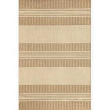 Madison Neutral Stripe Indoor/Outdoor Rug
