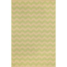 Monterey Green Zig Zag Indoor/Outdoor Rug